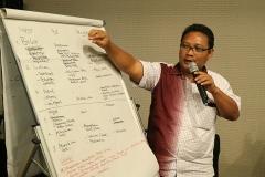 Syarief Hidayat, DF Kota Gorontalo sedang memaparkan hasil disku